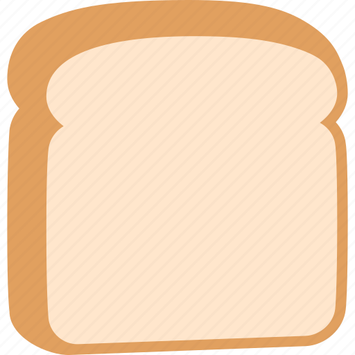 baking, bread, food, piece, slice, sliced, white icon