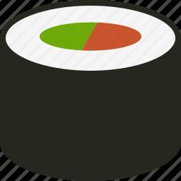 food, japanese, lunch, maki, makizushi, roll, sushi icon