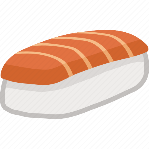 food, japanese, lunch, meal, nigiri, salmon, sushi icon