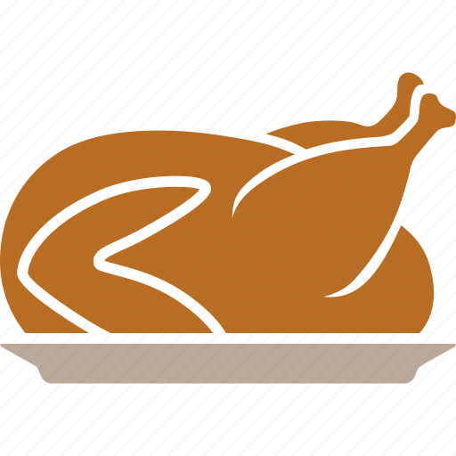 chicken, food, happy, plate, roasted, thanksgiving, turkey icon