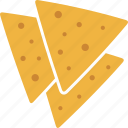 chips, corn, food, mexican, nachos, tortilla, tortillas icon