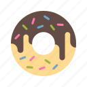 desserts, donut, sprinkled doughnut, sweet icon