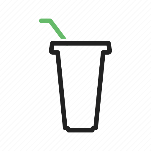 cup, glass, juice, refreshment, straw icon