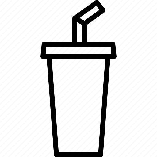 beverage, cup, drink, soda, soft, softdrink, straw icon