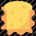 bread slice, bread toast, sandwich, snacks, toast icon