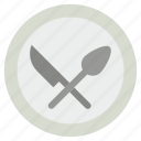 cutlery, kitchen utensils, slotted spatula, spoon, turner spoon icon