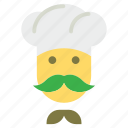 chef, chef cook, cook, cook head, professional cook icon