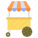 hot dog stand, hot dog vending, hot dog wagon, hot dogs cart, vending cart icon