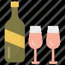 alcohol, beer, bottles, champagne bottles, wine bottles icon