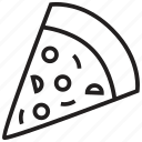 food, italian, pepperoni, piece, pizza, restaurant, slice icon