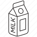 beverage, bottle, carton, drink, food, liquid, milk icon