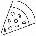 food, italian, junk food, meal, pizza, restaurant, slice icon