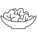 dish, food, fruit, healthy, meal, salad, vegetable icon