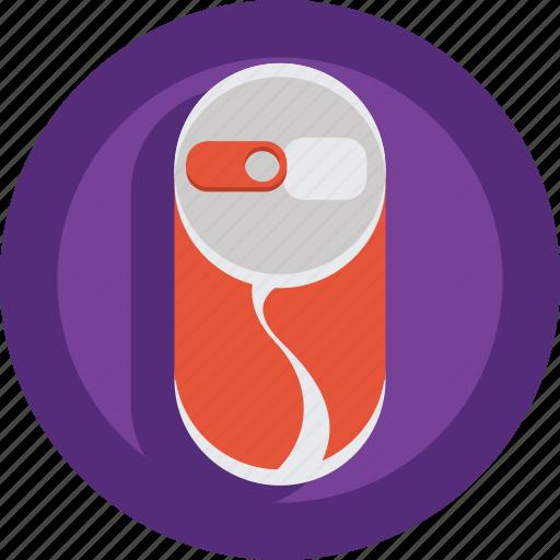 can, coca, coca cola, drink, gaz, soft drink icon