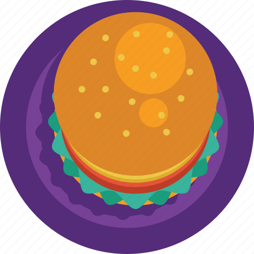 fast food, food, hamburger, junk food, sandwich icon