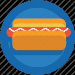 bread, fast food, hotdog, junk food, sandwich, sausage icon