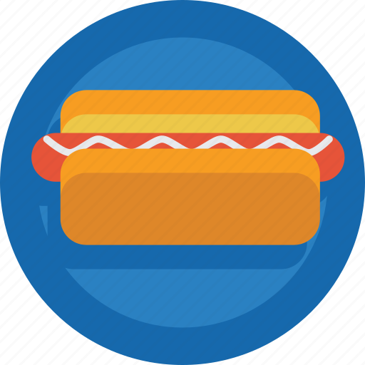 bread, fast food, hotdog, junk food, sandwich, sausage icon