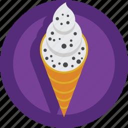 cold, cornet, cream, dessert, ice, ice cream, sweet icon