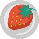 fruit, strawberry, sweet icon