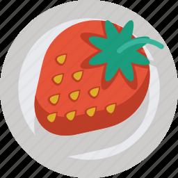 fruit, strawberry, sweet icon