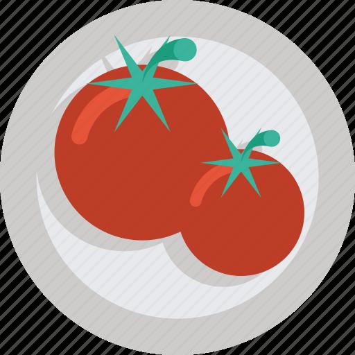 food, tomatoes, vegetable icon