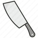 butcher knife, chef knife, cleaver, knife, knives icon