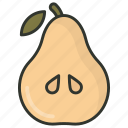 food, fruit, nutritious food, pear, pome icon