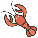 crawdads, crawfish, crayfish, freshwater lobster, mudbugs icon