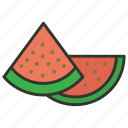 food, fruit, honeydew, melon, melon slice icon
