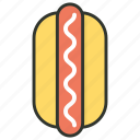 fast food, food, hot dog icon