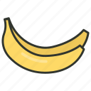 banana, food, fruit, healthy diet, plantains