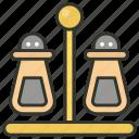 pepper mill, pepper pots, pepper shakers, salt pots, salt shakers icon