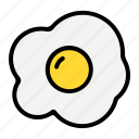 egg, fried, food, omelette, breakfast, cooking, eggs icon