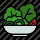 salad, food, vegetable, vegetarian, healthy, fresh icon