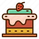 cake, celebrate, dessert, strawberry, food