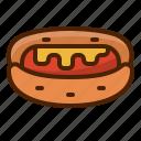 hotdog, bread, food, bake, fast