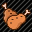 chicken, drumstick, meat, turkey, leg
