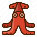 food, seafood, squid