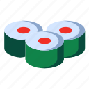 food, japanese, sushi icon