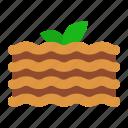 lasagna, food, cheesse, pasta, italian, sweet, dessert icon