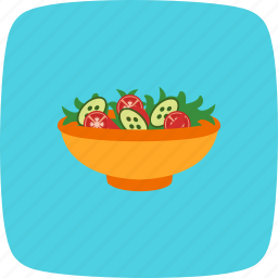 cucumber, diet, healthy, lettuce, salad, vegetables icon
