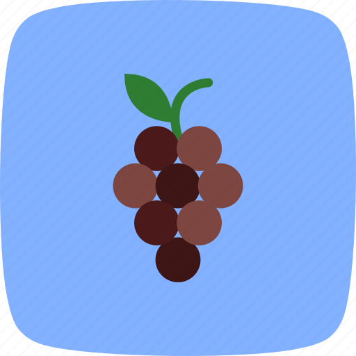 food, fruit, grapes, healthy icon