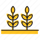 farm, field, food, plant, wheat icon