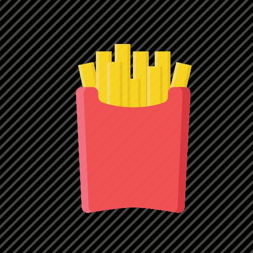 fast food, food, fries, junk food icon