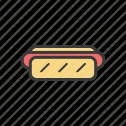 food, hot dog icon