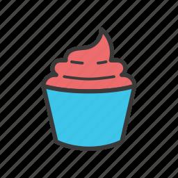 cupcake, dessert, food icon