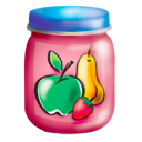 food, fruits, jar, puree icon