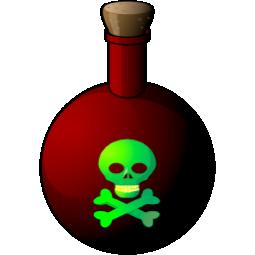 death, poison, skull icon