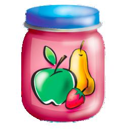 food, fruits, jar, puree icon
