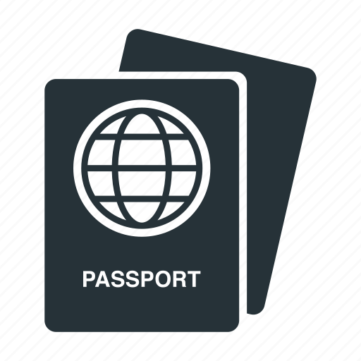 document, id card, identification, pass, passport, people, visa icon